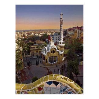 Gaudi´s Parc Guëll AT Barcelona, Spain Post Card