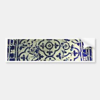 Gaudi s Park Guell Mosaic Tiles Barcelona Bumper Stickers
