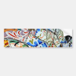 Gaudi s Park Guell Mosaic Tiles Bumper Stickers