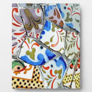 Gaudi s Park Guell Mosaic Tiles Plaque