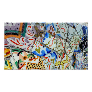 Gaudi s Park Guell Mosaic Tiles Poster