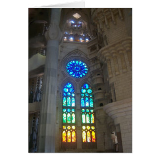 Gaudi - Sagrada Familia stained glass windows Card