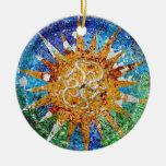 Gaudi Sunburst Mosaic Ornament
