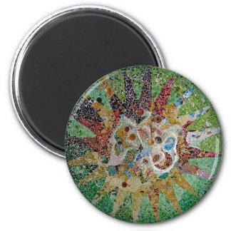 Gaudi Tiles 2 Inch Round Magnet