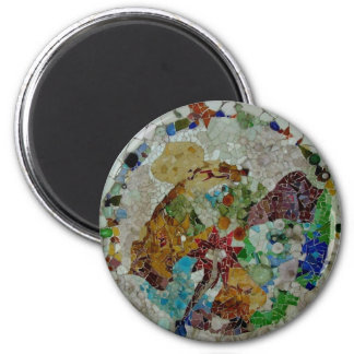 Gaudi Tiles 2 Inch Round Magnet