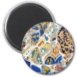 Gaudi Yellow Tiles magnet Fridge Magnet