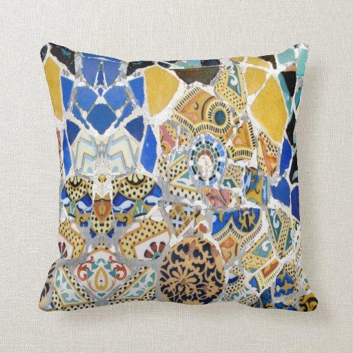 Gaudi Yellow Tiles - Mirror Pillow