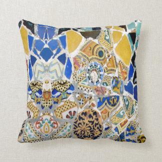 Gaudi Yellow Tiles - Mirror Throw Pillow