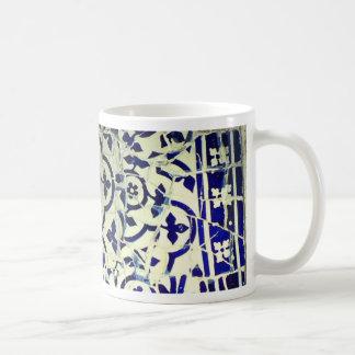 Gaudi's Park Guell Mosaic Tiles Barcelona Coffee Mug