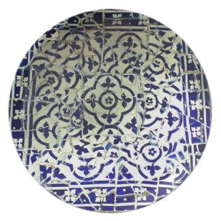 Gaudi's Park Guell Mosaic Tiles Barcelona Plates