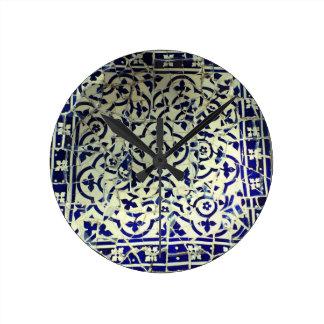 Gaudi's Park Guell Mosaic Tiles Barcelona Round Clock