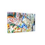 Gaudi's Park Guell Mosaic Tiles Canvas Print