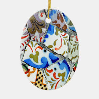 Gaudi's Park Guell Mosaic Tiles Ceramic Ornament