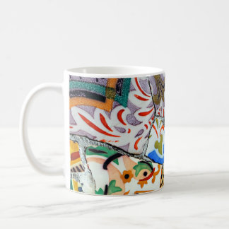 Gaudi's Park Guell Mosaic Tiles Coffee Mug