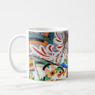 Gaudi's Park Guell Mosaic Tiles Classic White Coffee Mug