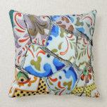 Gaudi's Park Guell Mosaic Tiles Pillow