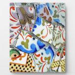 Gaudi's Park Guell Mosaic Tiles Plaque
