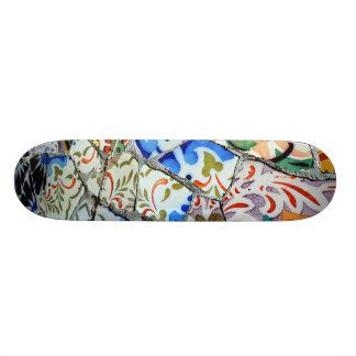 Gaudi's Park Guell Mosaic Tiles Skateboard