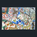 "Gaudi&#39;s Park Guell Mosaic Tiles Towel<br><div class=""desc"">Some of Antoni Gaudi&#39;s famous mosaic tiles in Parc Guell,  Barcelona.</div>"