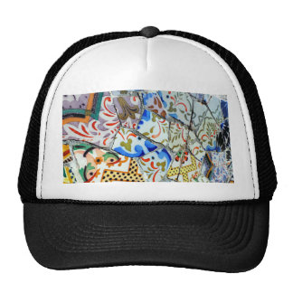 Gaudi's Park Guell Mosaic Tiles Trucker Hat