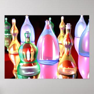 Gaudy Bottles Poster