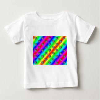 Gaudy Bright Rainbow Elephant Pattern Baby T-Shirt