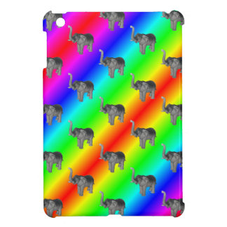 Gaudy Bright Rainbow Elephant Pattern Case For The iPad Mini
