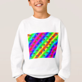 Gaudy Bright Rainbow Elephant Pattern Sweatshirt