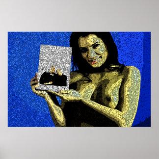 Gaugain diseñó a la mujer con un buen libro poster