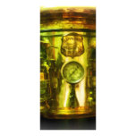 Gauge and Two Brass Lanterns on Fire Truck Custom Rack Cards