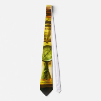 Gauge and Two Brass Lanterns on Fire Truck Tie
