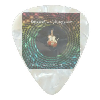 Gauge: Medium Gauge .08mm Pearl Celluloid Guitar Pick by Richard_Caponetto_Sr at Zazzle