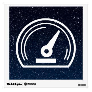 Gauge Speeds Pictogram Wall Graphic