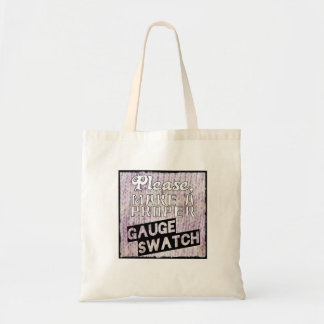 Gauge Swatch Knitting Tote Bag