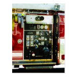 Gauges on Fire Truck Postcard