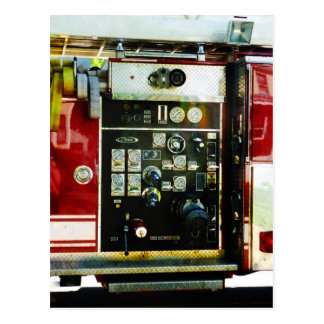 Gauges on Fire Truck Postcard