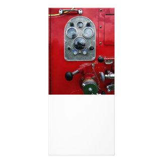Gauges on Vintage Fire Truck Rack Card