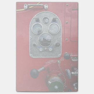 Gauges on Vintage Fire Truck Post-it® Notes