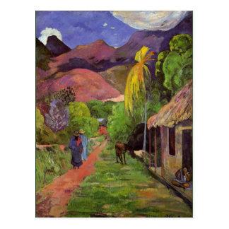 Gaugin - camino en Tahití Postales