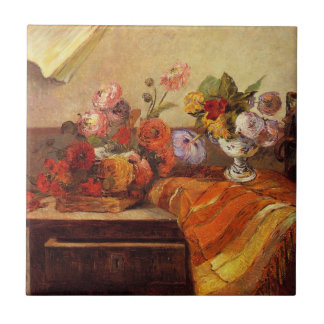 Gaugin - Pots and Bouquets still life Tile