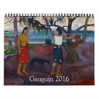 Gauguin 2016 calendar
