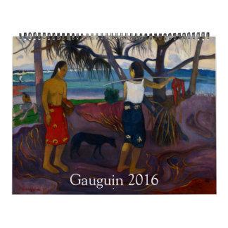 Gauguin 2016 enorme calendario
