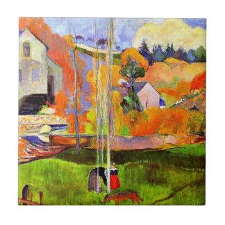 Gauguin - A Breton Landscape-David's Mill-1894 Ceramic Tile