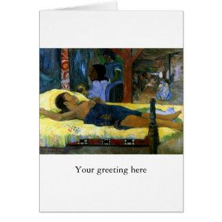 Gauguin art painting Tamari No Atua (Nativity) Greeting Card