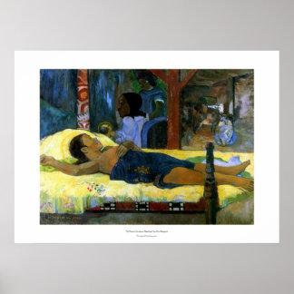 Gauguin art painting Tamari No Atua (Nativity) Poster