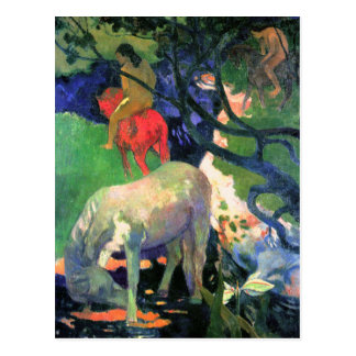 Gauguin Art Postcard: The White Horse