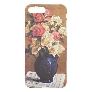 Gauguin - Bouquet of Peonies on a Musical Score iPhone 7 Plus Case