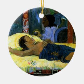 Gauguin child of God Te Tamari No Atua (Nativity) Double-Sided Ceramic Round Christmas Ornament