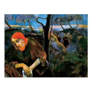 Gauguin Christ in the Garden of Olives Fine Art Postcard