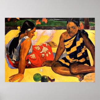 ¿Gauguin - cuál es nuevo? Pintura de Paul Gauguin Posters